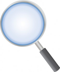 vector image of magnifier