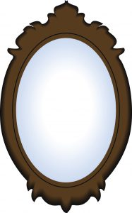 24743500 vector image of a mirror